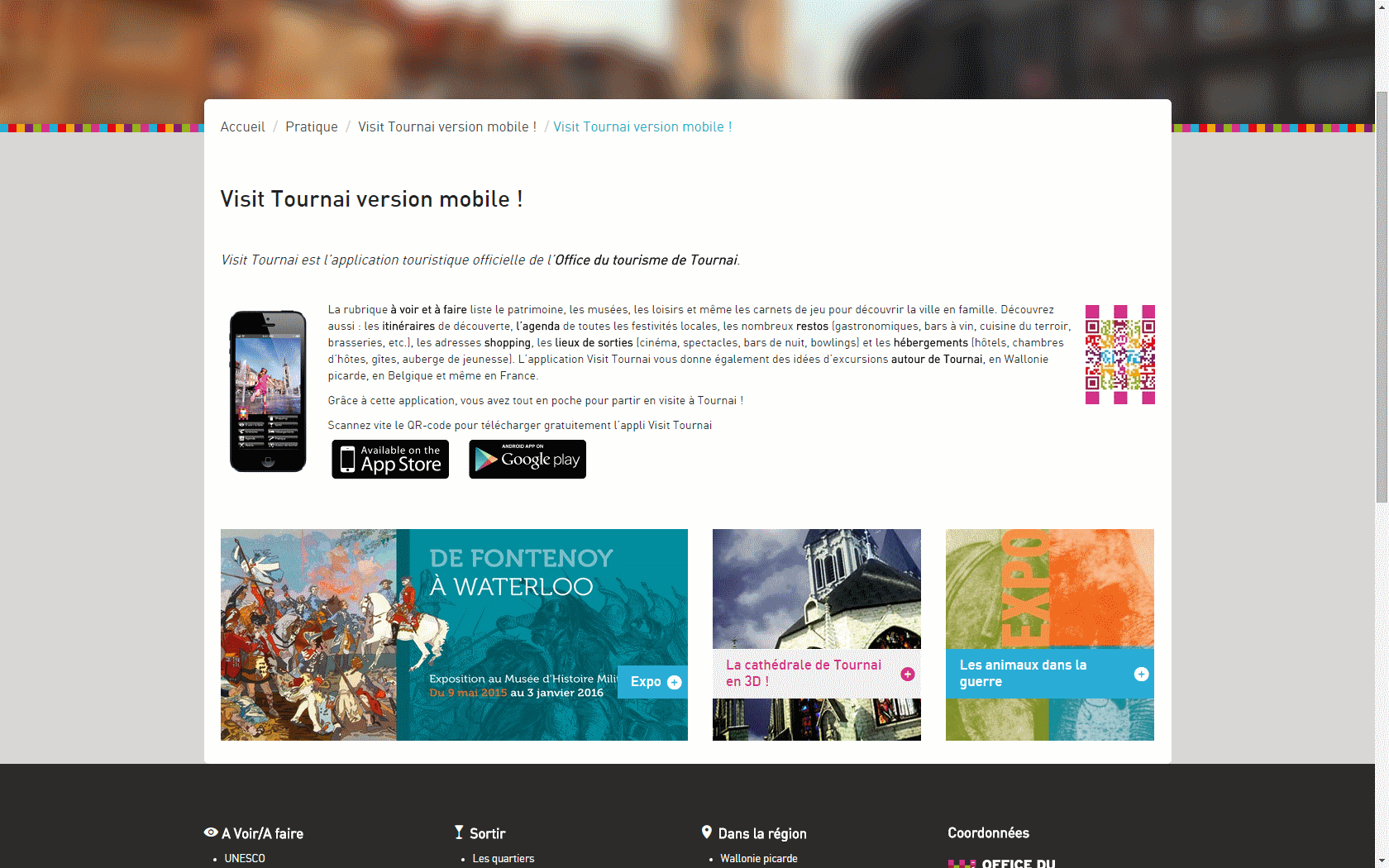 Visit Tournai Mobile